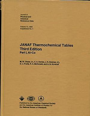 JANAF Thermochemical Tables, Part 1: Al-Co, Part
