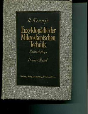 Enzyklopadie der mikroskopischen Technik mit besoderer Bercksichtigung der farbelehre; Band III. ...
