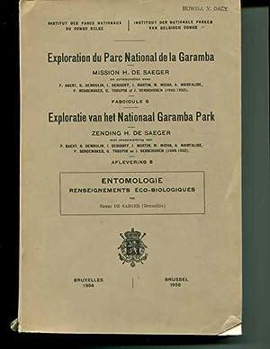 Exploration du Parc National de la Garamba. Mission H. De Saeger. Fasc. 5. Entomologie ...