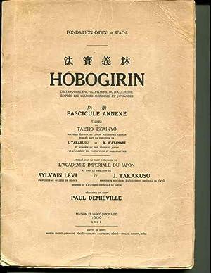 Hobogirin (Fondation Otani ed Wada) Fascicule Annexe: Demieville, Paul