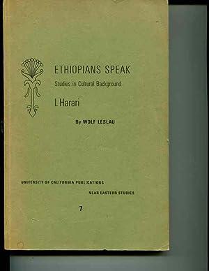 ETHIOPIANS SPEAK: STUDIES IN CULTURAL BACKGROUND. I. HARARI: Leslau, Wolf
