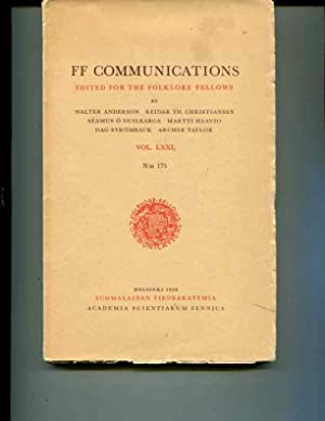 FF Communications edited for the Folklore Fellows Vol. LXXI no 175: Anderson, Walter; Christiansen,...