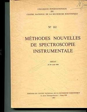 Methodes Nourvelles de Spectroscopie Instrumentale: ORSAY 25-29 Avril 1966: Various