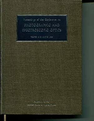 Proceedings of the Conference on Photographic and Spectroscopic Optics: Tokyo and Kyoto 1964
