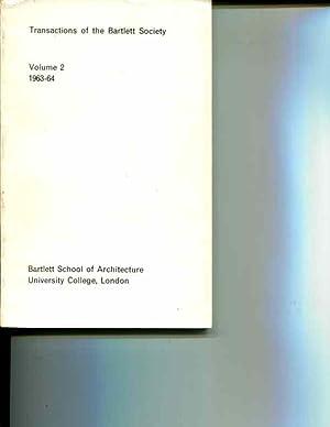 Transactions of the Bartlett Society: Volume 2. 1963-64