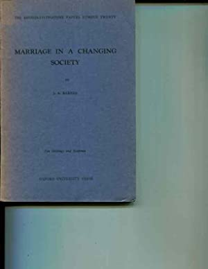 Marriage in a Changing Society: A Study in Structural Change among the Fort Jameson Ngoni (The ...