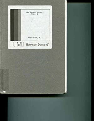 The Raman Effect: Volume I: Principles: W. Anderson (editor)