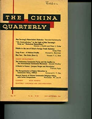 The China Quarterly: No. 19, July-September, 1964: Roderick MacFarquhar (editor)