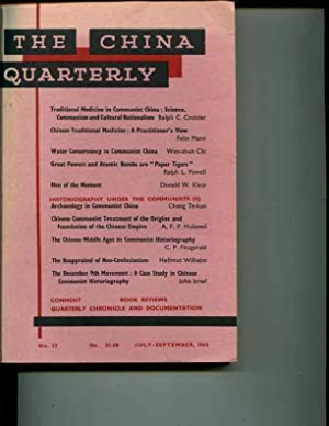 The China Quarterly: No. 23, July-September, 1965: Roderick MacFarquhar (editor)