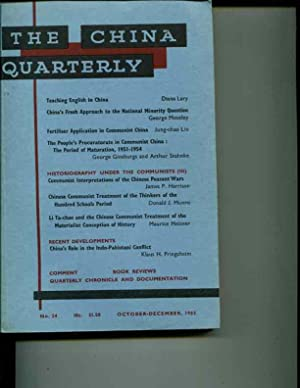The China Quarterly: No. 24, October-December, 1965: Roderick MacFarquhar (editor)