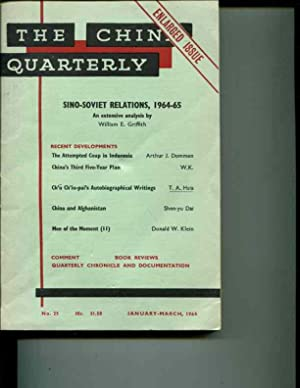 The China Quarterly: No. 25, January-March, 1965: Roderick MacFarquhar (editor)