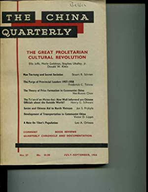 The China Quarterly: No. 27, July-September, 1966: Roderick MacFarquhar (editor)
