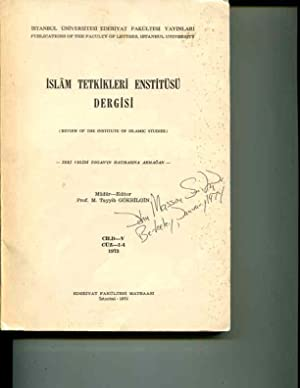 Islam Tetkikleri Enstitusu dergisi. III:3-4, IV:3-4, V:1-4