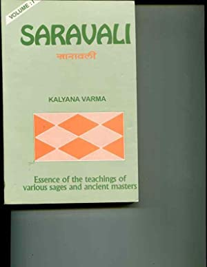 Saravali of Kalyana Varma, Volume 1