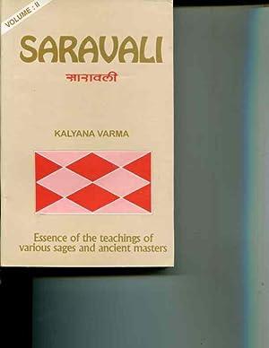 Saravali of Kalyana Varma: Essence of the: Kalyana Varma; R.Santhanam