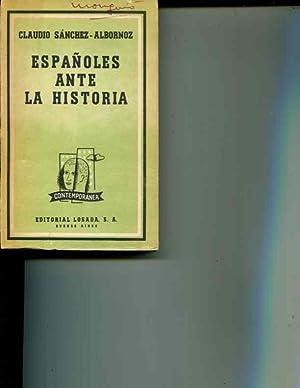 Espanoles Ante La Historia: Sanchez-Albornoz
