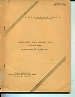 Japanese Antarctic whaling expedition,: 1950-51, statistical summary,: Goldberg, Benjamin