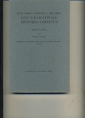 Juan Pablo Forner Y Segarra Los Gramatic: Polt, John H R