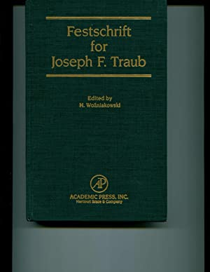 Festschrift for Joseph F. Traub (English Language) (Journal of Complexity Volume 9, Numbers 1 &...