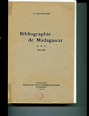 Bibliographie de Madagascar 1934-1955 Tome III: G. Grandidier