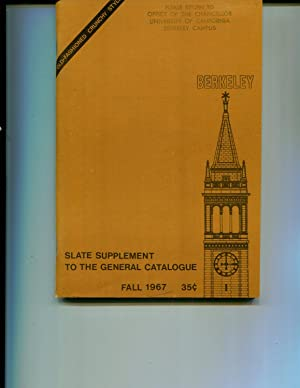 UC Berkeley Slate Supplement to the General Catalog Fall 1967: Madge Strong and T.B. Squash, ...