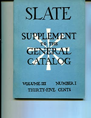 UC Berkeley Slate Supplement to the General Catalog Fall 1965 Vol. III, Number 1: Sue Currier, ...