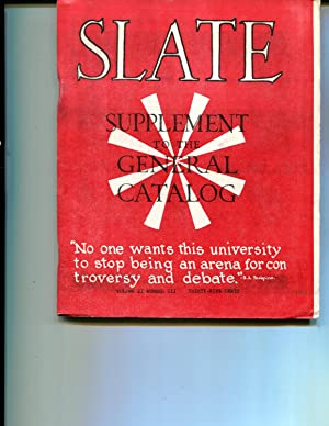 UC Berkeley Slate Supplement to the General Catalog Spring 1965 Vol. II, Number 3: Rosemary Feitis,...