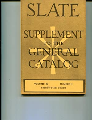 UC Berkeley Slate Supplement to the General Catalog 1966 Vol. IV, Number 1: Jill Morton, Editor