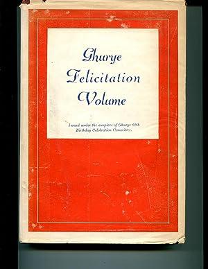 Professor Ghurye Felicitation Volume: Kapadia, Kanailal Motilal (1908-1967) Ed. Ghurye, Govind ...