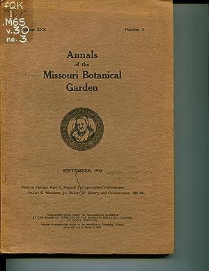 Flora of Panama: Part II, Fascicle 2. Annals of the Missouri Botanical Garden, Vol 30, Sept 1943, ...