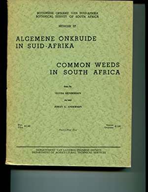 Common Weeds In South Africa; Algemene Onkruide In Suid-Afrika: Henderson, Mayda & Anderson, Johan ...