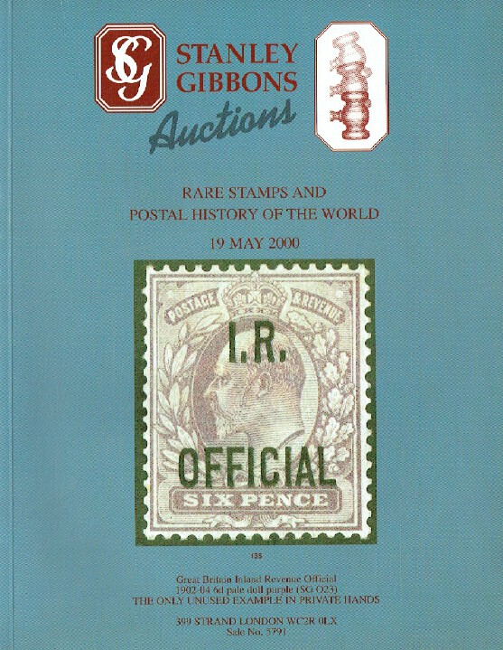 Stanley Gibbons May 2000 Rare Stamps &