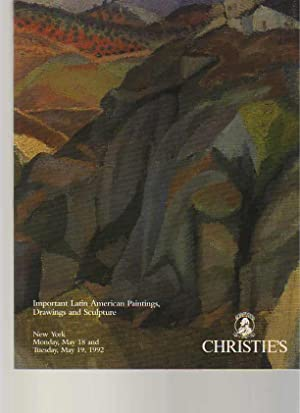 Christies 1992 Important Latin American Paintings, Drawings.: Christies