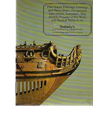Sothebys 1983 Marine Paintings, Instruments, Scrimshaw, Models: Sothebys