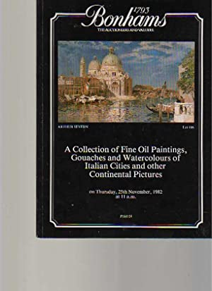 Bonhams 1982 Oil Paintings of Italian Cities: Bonhams