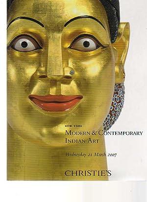 Christie's 2007 Modern & Contemporary Indian Art: Christies
