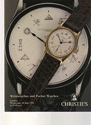 Christies 1992 Wristwatches and Pocket Watches: Christies