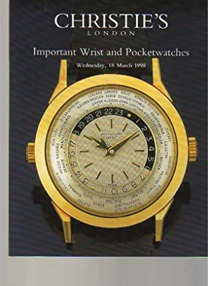 Christies 1998 Important Wrist and Pocket Watches: Christies