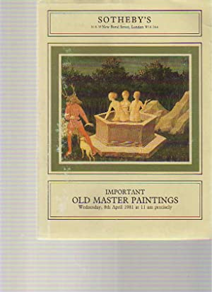 Sothebys 8th April 1981 Important Old Master: Sothebys