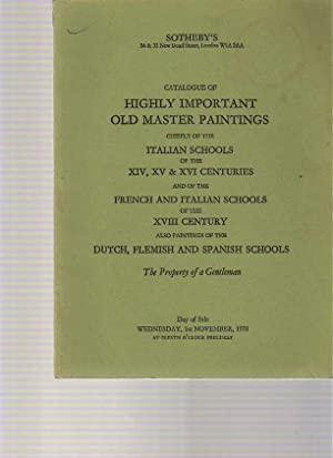 Sothebys 1978 Highly Important Old Master Paintings