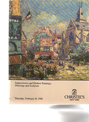 Christies February 1988 Impressionist & Modern Paintings,: Christies
