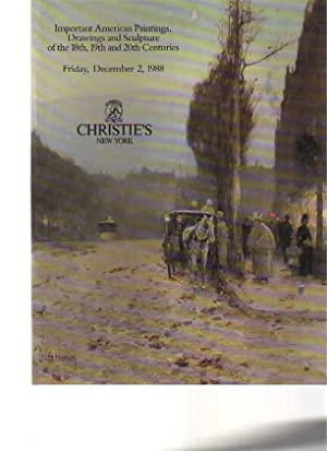 Christies 1988 18th- 20th Century American Paintings: Christies