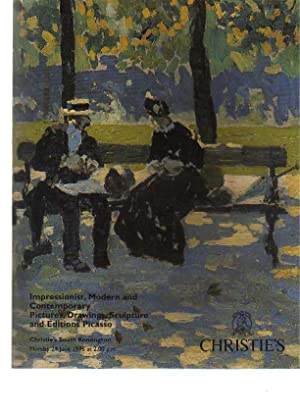 Christies 1996 Impressionist Pictures Editions Picasso: Christies