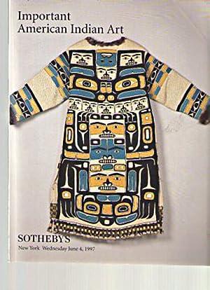 Sothebys 1997 Important American Indian Art: Sothebys