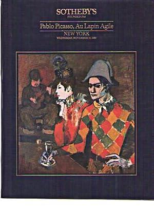 sothebys pablo picasso au lapin agile new york november 15 1989 sale no 5928 walter