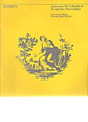 Sothebys 1982 Warren Baker Collection of Lustreware: Sothebys