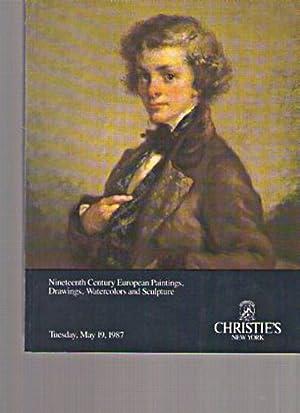 Christies 1987 19th C European Paintings, Watercolors,: Christies