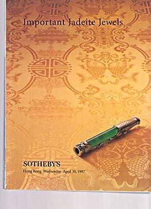 Sothebys 1997 Important Jadeite Jewels: Sothebys