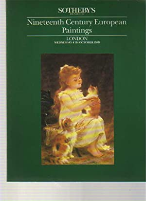 Sothebys October 1989 19th Century European Paintings: Sothebys