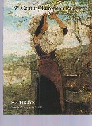 Sothebys 1998 19th Century European Paintings: Sothebys